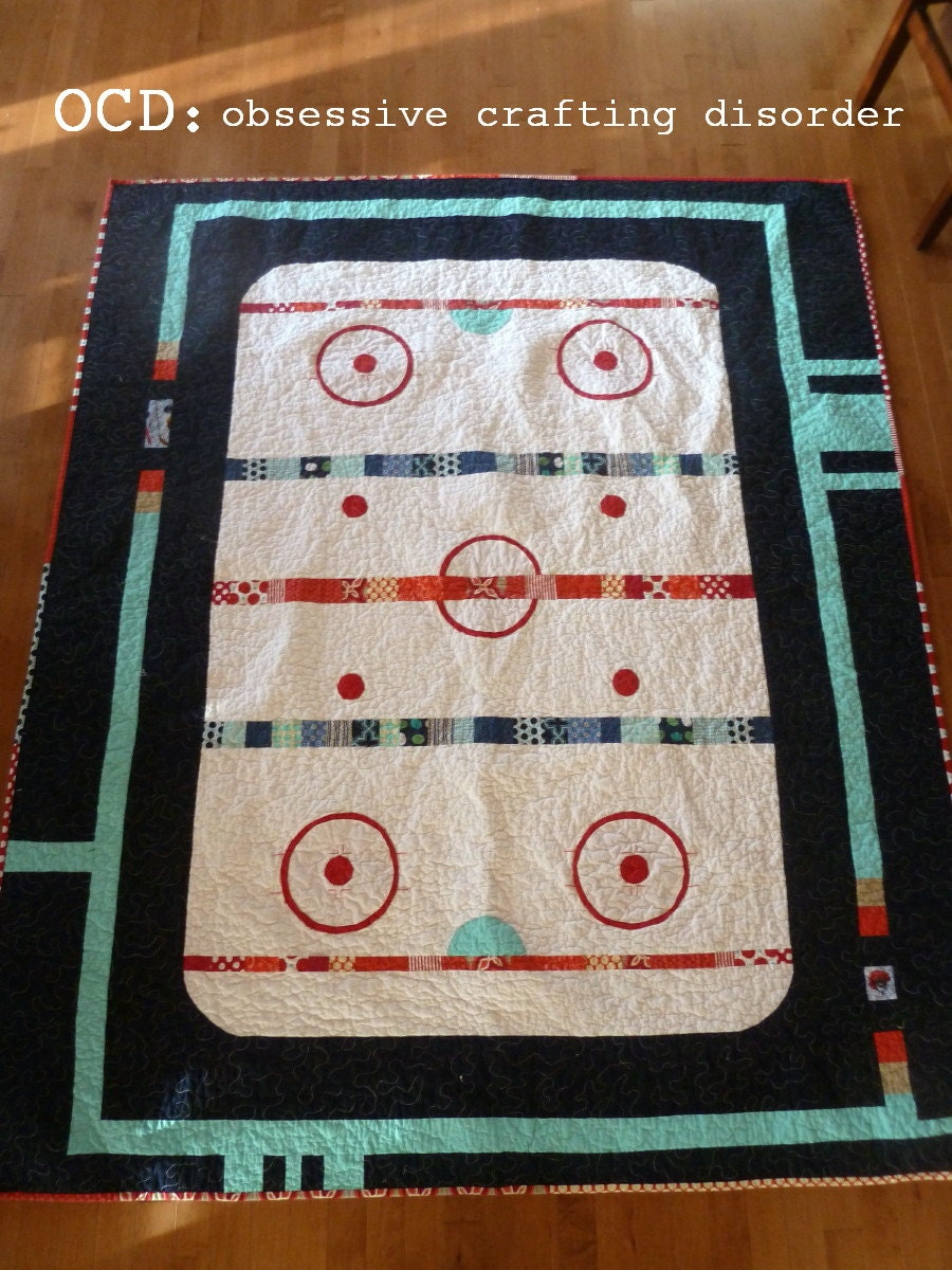 Pattern The Good Old Hockey Game Quilt Pattern Pdf By