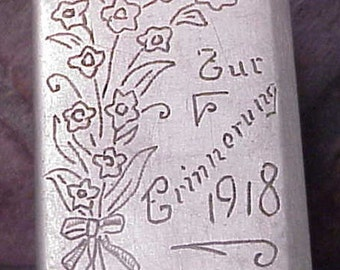 Original  1918 Victorian ESTONIA Allumettes Matchbox TALMONT France Art Nouveau Souvenir Free Shipping
