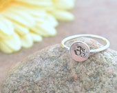 Ohm - Recycled Simple Sterling Silver Stamped Ring