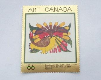 Owl Stamps Kenojuak Canadian Inuit
