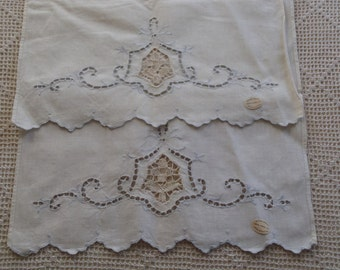 Vintage Towels Blue Embroidery 2 Pc.