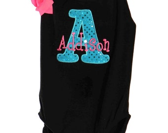 Custom Personalized Birthday Leotard with Initial or Letter Design Your Own