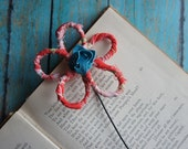 Fabric Wire Flower Bookmark
