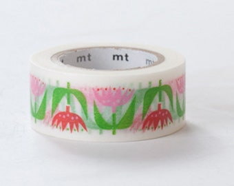 MT ex 2013 - Japanese Washi Masking Tape - Tulip Flowers By Bengt & Lotta 20mm for party favor, packaging