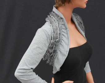 weddings / bridal accessories / shrugs / boleros / bridal wraps / bolero wedding wraps / bridal jacket light ruffles shrug