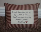 Smile Sister-in-law Pillow special order