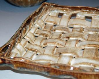 Pottery Handmade, Serving Tray, Ceramic Tray, Ceramics and Pottery Tray, Woven Pottery Basket, Wedding Gift