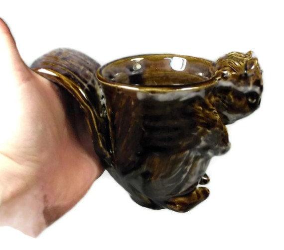 Squirrel Face Mug Sculpted Animal Cup