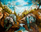 Ursa Major- wildlife bear- limited edition giclee print