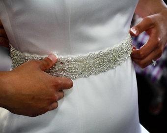 Gabriella Bridal Dress Gown Beaded Jeweled Embellished Crystal Belt Sash