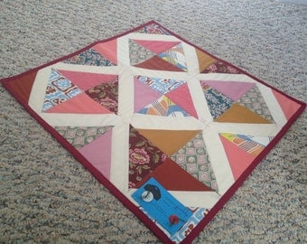 Little Diamonds  - Table Mat or Doll Quilt - C39
