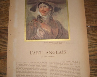 L'ILLUSTRATION - L'ART ANGLAIS (English Art)  French Magazine Article on English Art from the 1930s