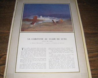 L'ILLUSTRATION - La Caravane au Clair de Lune, (The Caravan of Clair de Lune), French Magazine Article