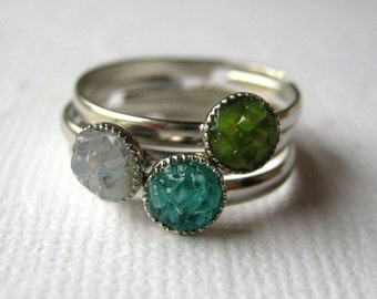 Stained Glass Rings