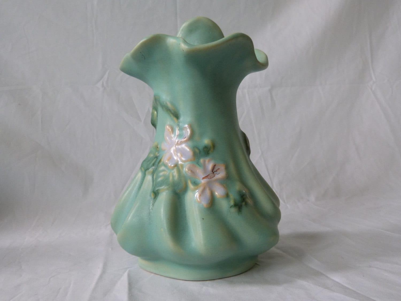 Vintage Weller Pottery Matte Green Vase Jack In The Pulpit