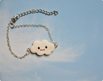 New bijoux from cloudsland: smiling fimo cloud bracelet