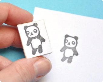 Cute Panda hand carved rubber stamp