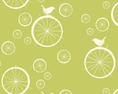 Birch MOD BASICS Birdie Spokes Grass- Organic Cotton Fabric- Check Out These Shipping Rates
