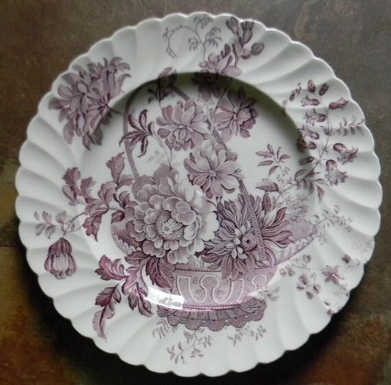 lavender purple toile transferware - photo #13