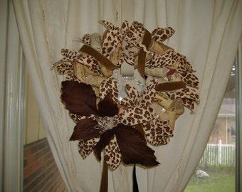 Animal Print Wine Cork Wreath