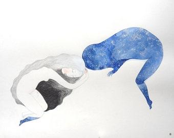 """Print """"Le dormir et la pulpe des étoiles"""""""
