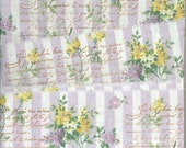"French Lavender floral 3 "" wide vintage words shabby trim chic hand stamped Muslin c799 . ....oohlala"