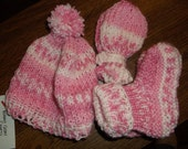 Pink 3 pieced baby set