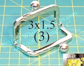 3 - 3x1.5 Nickel-free metal purse frame(TM)