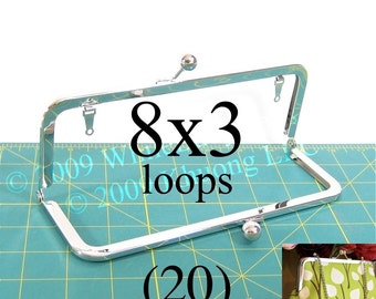 20% OFF 20 nickel-free 8x3 purse frame(TM) kisslock with loops