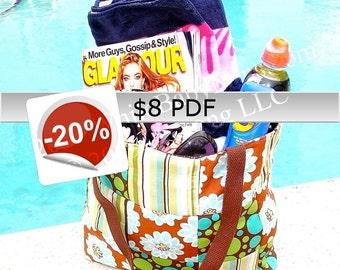 PDF - Reversible Patchwork Bag - 3 different sizes