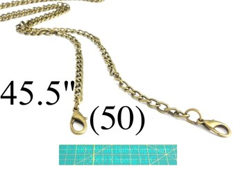 40% OFF (50) 45 inch antique brass purse chains - shoulder length