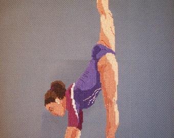Gymnast Cross-Stitch Aliya Mustafina (Russia)