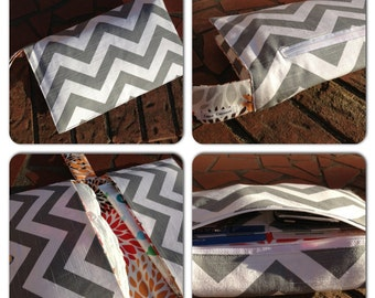 Chevron Diaper Clutch