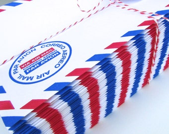 1 Set of 50 Specialty Air Mail Envelopes