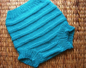 Hand Knitted Wool Cloth Diaper Cover Soaker Wool Nappy Cover  Baby Diaper Cover Knit Cloth Diaper  size Large 12-18 Months