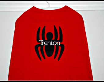 Custom Made Embroidered and Personalized Spiderman SuperHero Cape - Babies and Toddlers