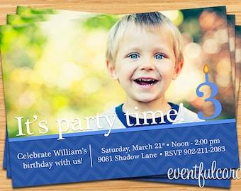 Photo Birthday Party Invitation - Printable