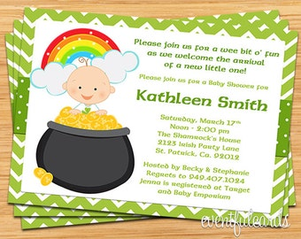 St Patricks Day Irish Baby Shower Invitation