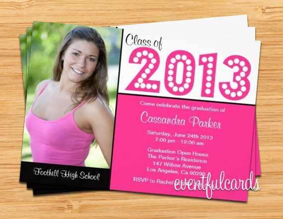 Class of 2017 High School/College High School/College Graduation Invitation Photo Card - Print at Home or E-card