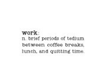 WORK definition - wall vinyl decal - 12 x 4""