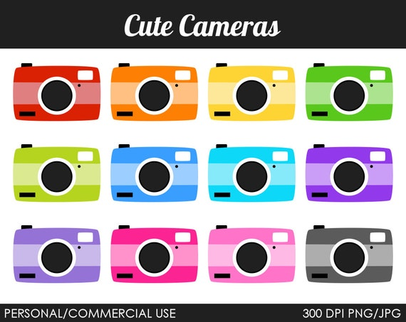 Cute Camera Clipart - Digital Clip Art Graphics for Personal or Commercial Use