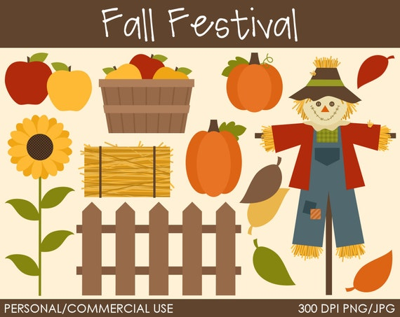 Fall Festival Clipart - Digital Clip Art Graphics for Personal or Commercial Use