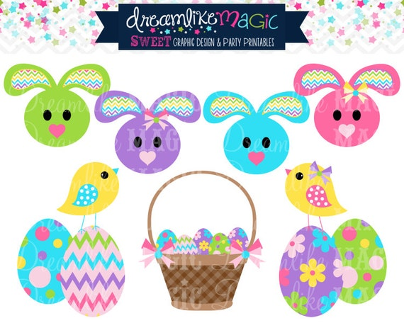 Easter Basket Sweeties- Clipart for Personal or Commercial Use