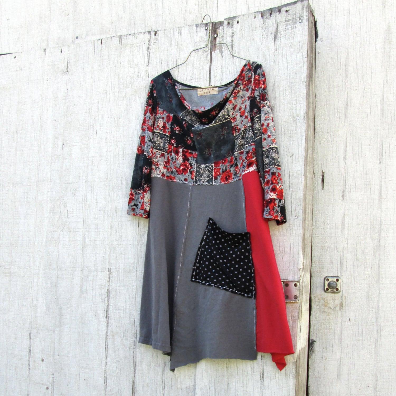 Xsmall Medium / Upcycled Clothing / Funky Tshirt Dress