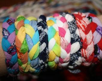 Sale! Upcycled Fabric or Tshirt Bracelet