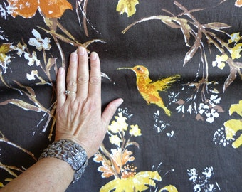 Vintage Riverdale Fabric with Floral and Bird Theme