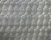 Nickel Silver Textured Metal Sheet Circle Weave Pattern 22g - 6 1/4 x 2 inches - Bracelets Pendants Metalwork