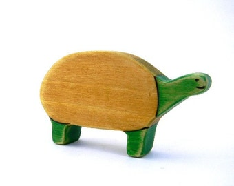 turtle toy wooden waldorf toy animal tortoise toy