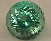 Prasiolite 12.1mm Portuguese Cut 6.69 carats flawless
