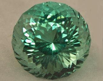 Prasiolite 12.0mm Portuguese Cut 6.50 carats